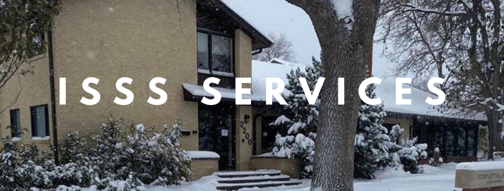 """Image of I-House with the text """"ISSS Services"""""""