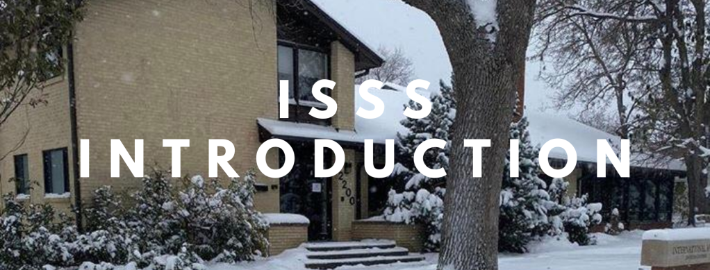 """Image of I-House with the text """"ISSS Introduction"""""""